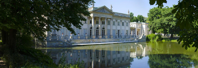 Varsovie, parc Lazienki (palais sur l'eau)