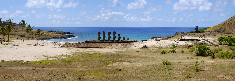 Ile de Pâques, Ahu Nau Nau & plage d'Anakena