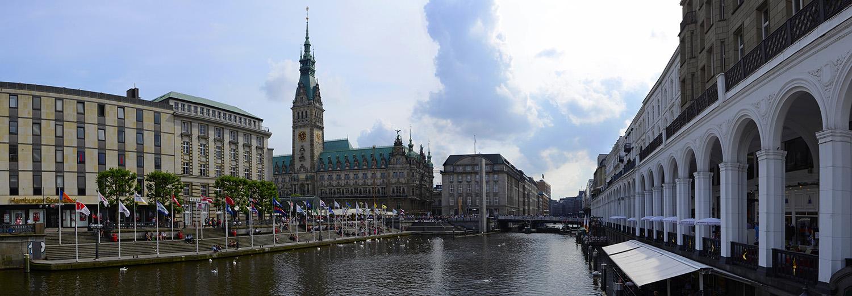 Hambourg, place de l'hôtel de ville