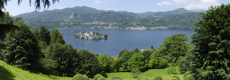 Orta San Giulio - Le lac d'Orta vu du Sacro Monte