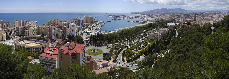 Malaga, vu du Gibralforo