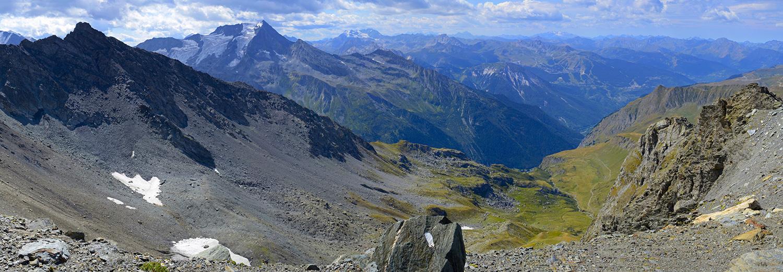 La Plagne, glacier de la Chiaupe (vue sur le Grand Bec)