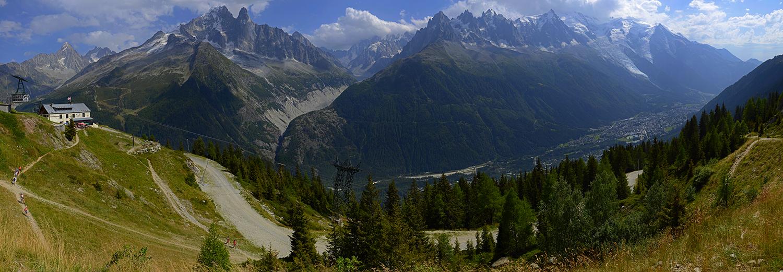 Haute-Savoie, Les Praz (la Flégère, vue sur le massif du Mt Blanc)