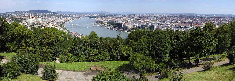 Budapest, Mont Gellert (ville vue de la citadelle)
