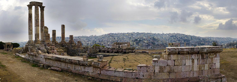 Amman, la citadelle (temple d'Hercule)