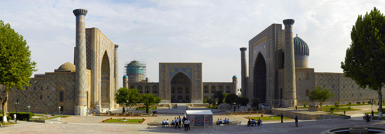 Samarkand, place du Registan