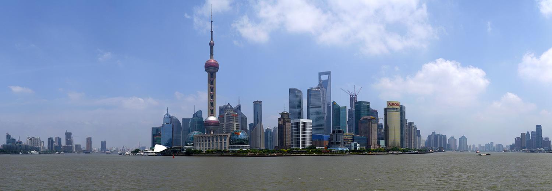 Shanghai, Pudong vu du Bund