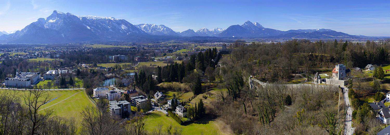 Salzburg, vu de la forteresse du Hohensalzburg