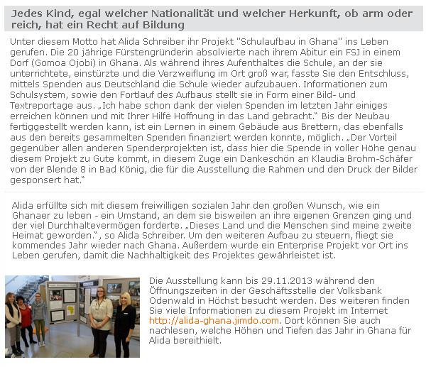 Pressemitteilung Voba Odenwald