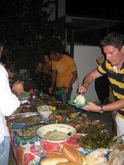 Cena durante la Pizzica