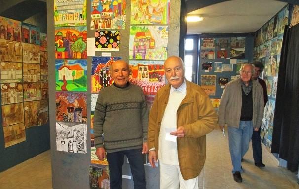 G. Tomasi, le maire et J-C. Barousse, le président