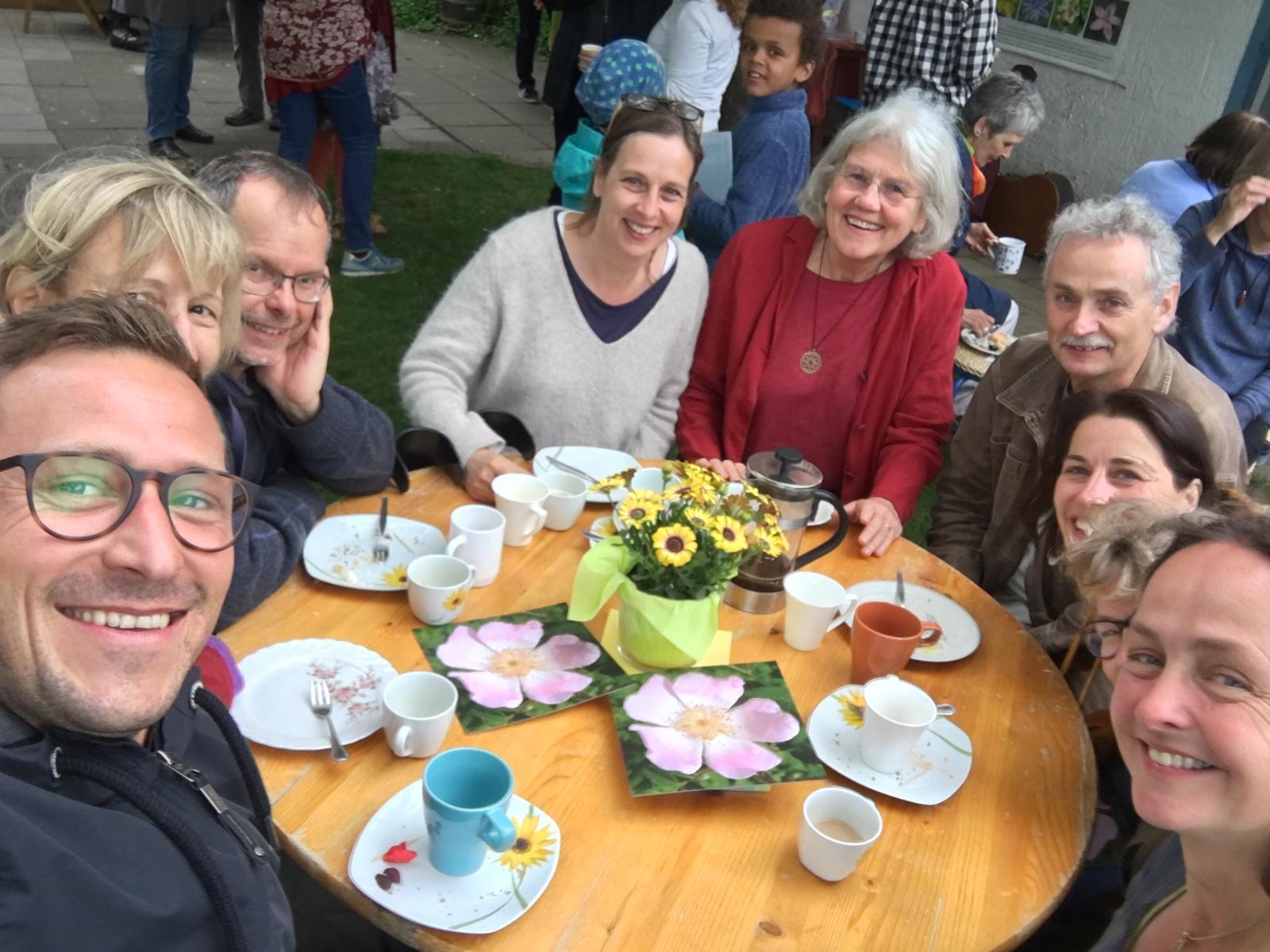 Kaffepause und Zeit zum Kennenlernen und Austauschen