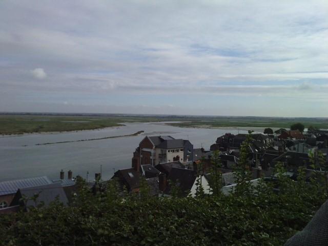 Vue de la Baie de Somme dans le quartier du courtgain