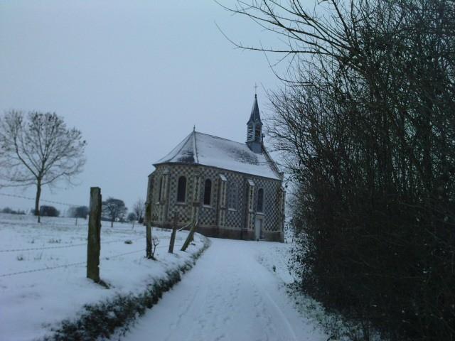 La Chapelle des Marins enneigée