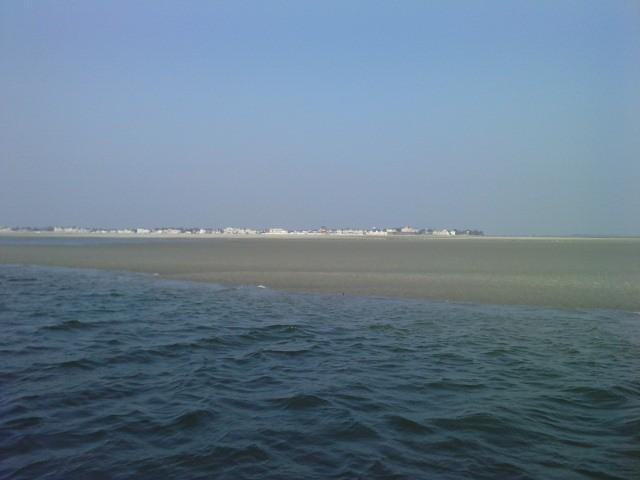 Le Crotoy vu de la baie de Somme