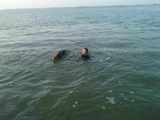 Essai de wakeboard peu concluant