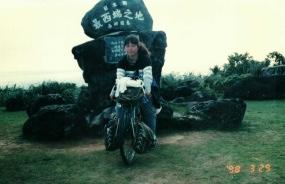 与那国島 1998/03/29 沖縄は、石垣島、西表島、小浜島、黒島、宮古島、波照間も走りました。
