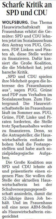 Wolfsburger Allgemeine Zeitung, 17.03.17