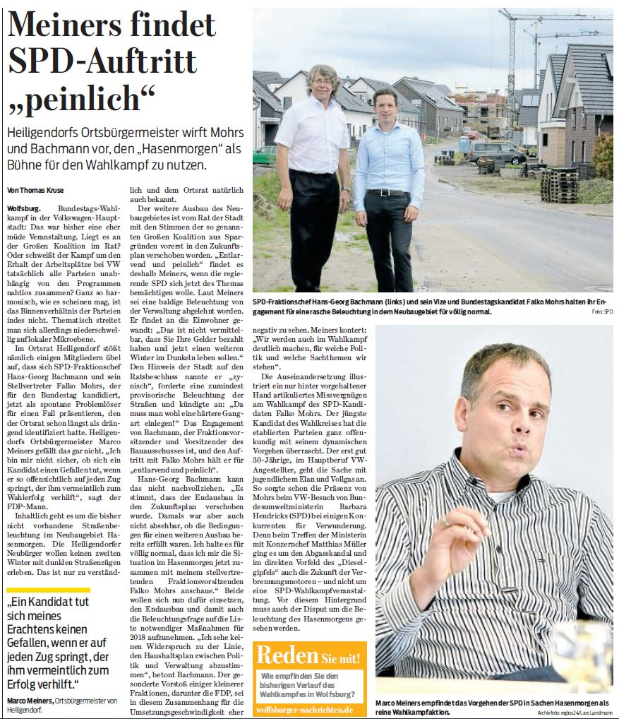Wolfsburger Nachrichten, 28.08.2017