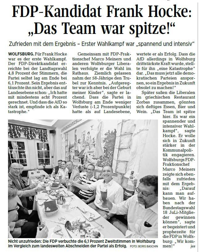 Wolfsburger Allgemeine Zeitung, 16.10.17