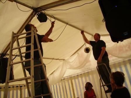 2009 Goldhochzeit - Positionierung der Technik bei vollem Körpereinsatz