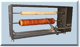 バームクーヘン用変形防止機能付きスライサー縦Ⅱ型
