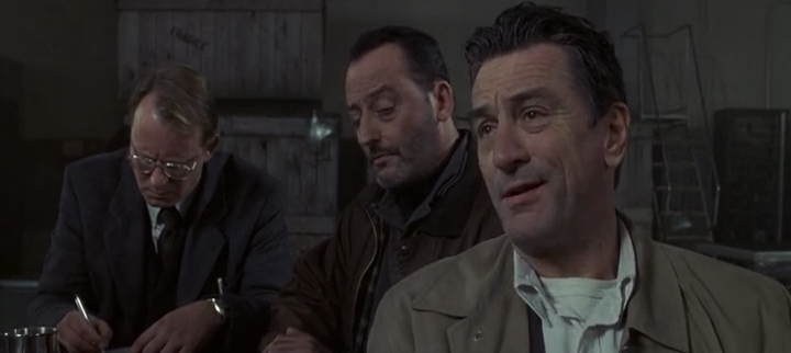 Robert De Niro & Jean Reno / Established  Group in Manuscript Coming For A Chromed Case / Business-Dressed Alike / Checking out the Specifications and Clues