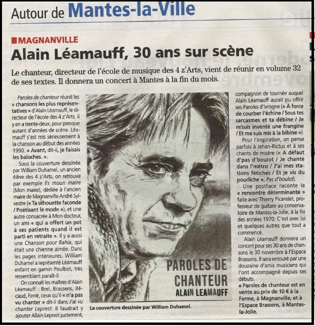 Alain Léamauff, 30 ans sur scène