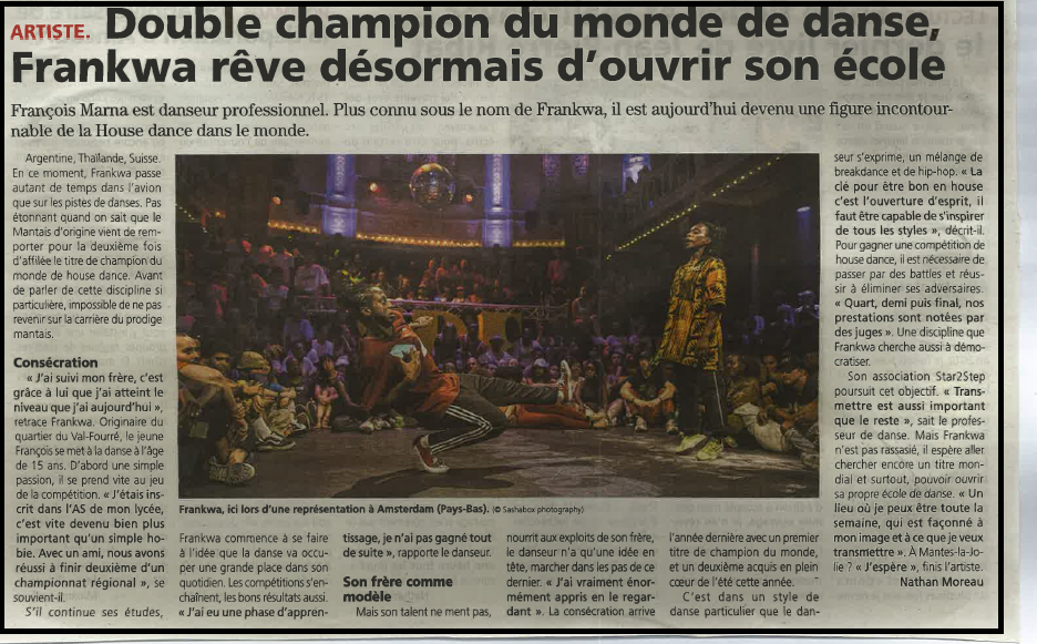 Double champion du monde de danse