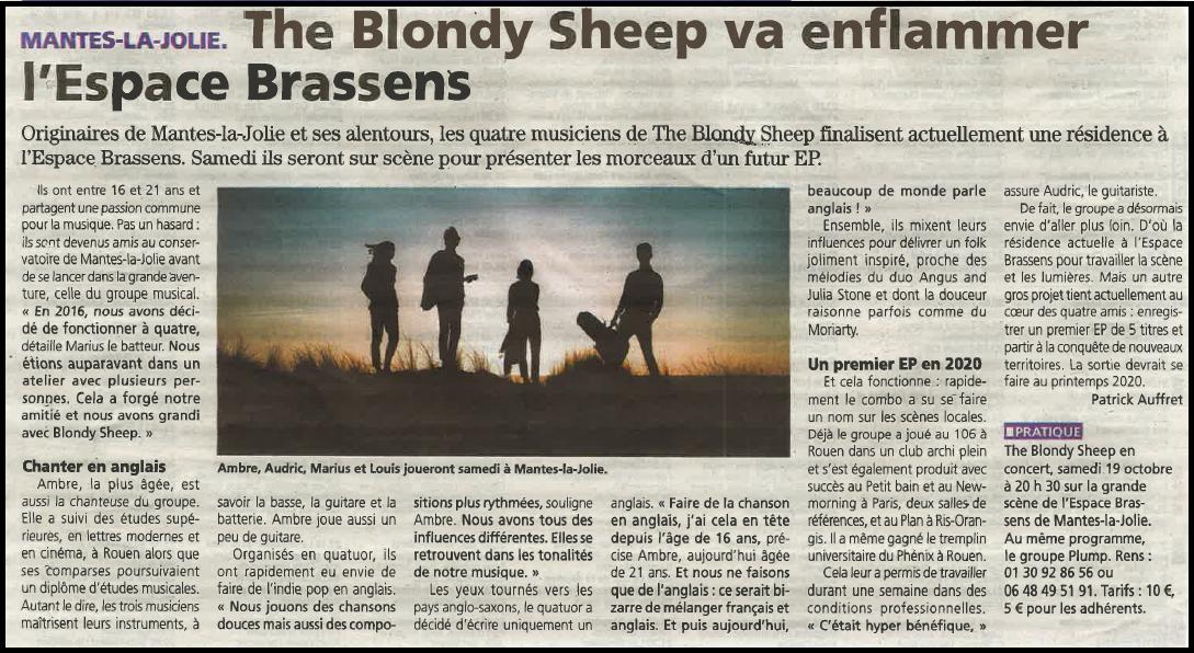 The Blondy Sheep va enflammer l'Espace Brassens