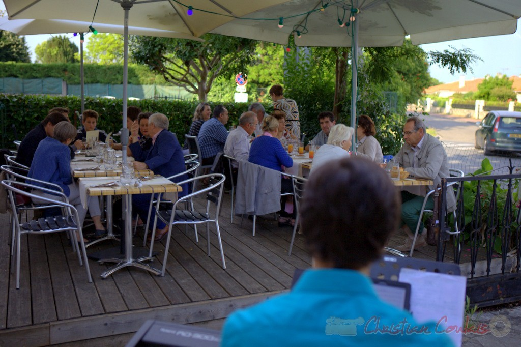 Souper Jazz au restaurant les Acacias, avec Phil Gueguen. Cénac, 12 juin 2015