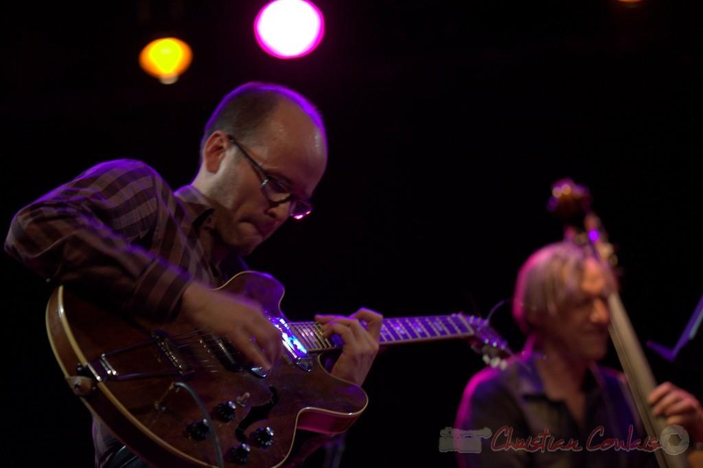 Festival JAZZ360 2015, Pierre Perchaud; Jean-Claude Oleksiak Quartet, Cénac. 13/06/2015