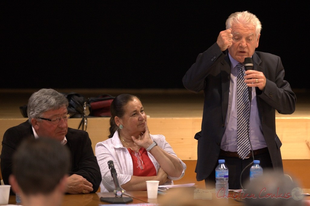 Philippe Madrelle, Président du Conseil général de la Gironde soutient Martine Faure lors des élections législatives 2012