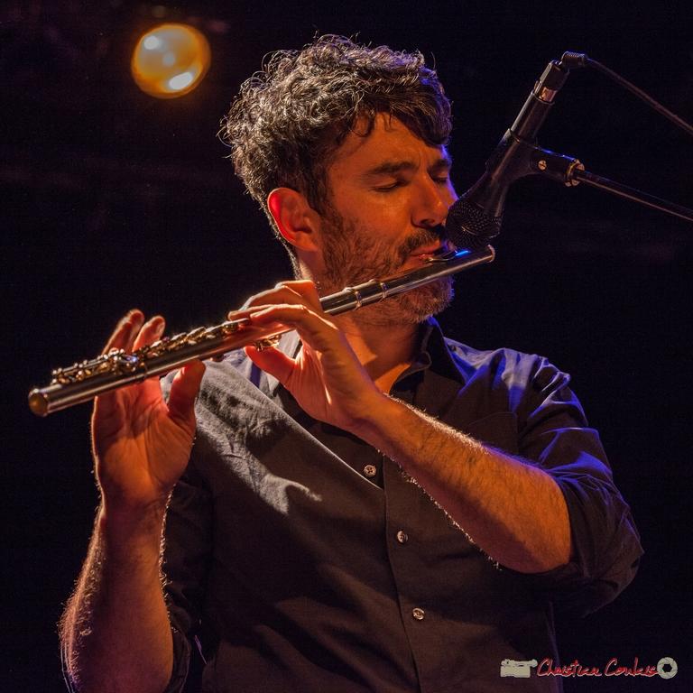 10/06/2016. Joce Meinniel, flûte, Sylvain Rifflet Quartet. Festival JAZZ360