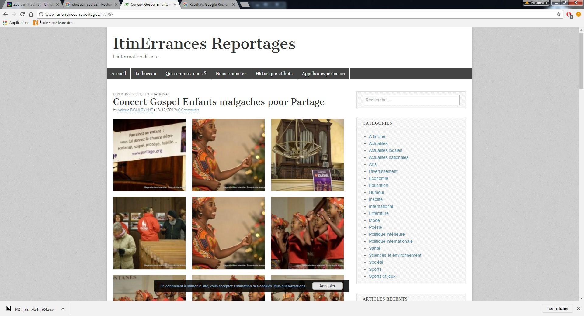 ItinErrances Reportages, 13 décembre 2013