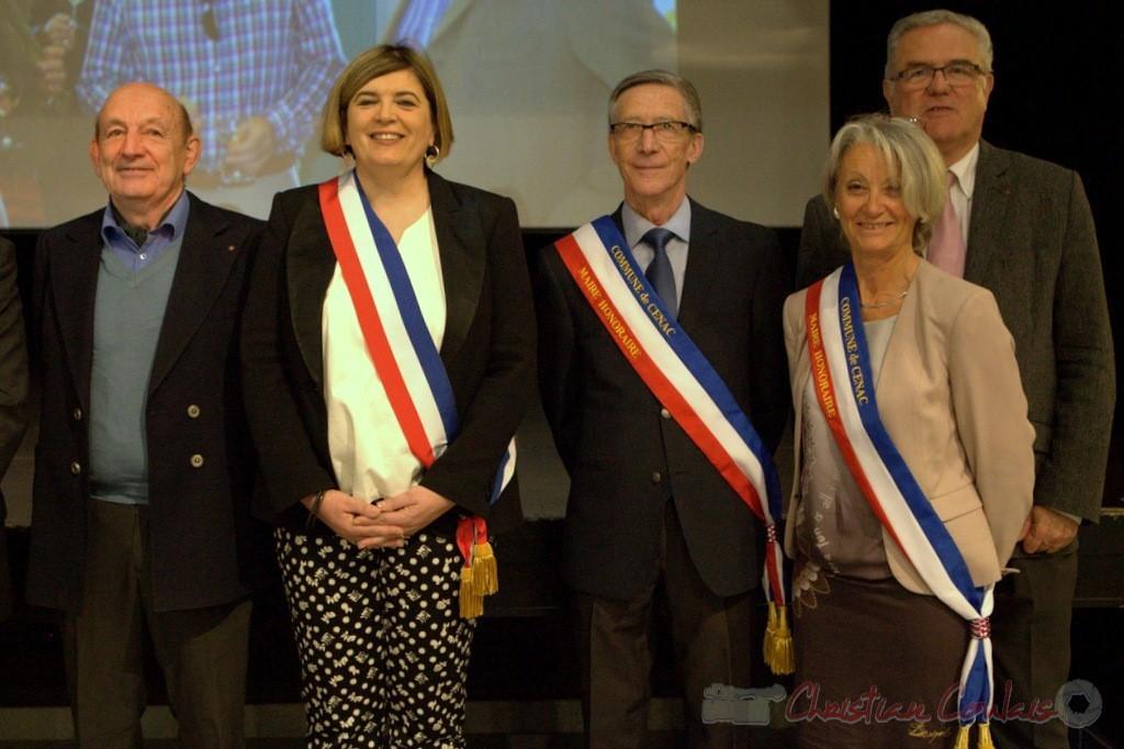 Pierre Heugas, Catherine Veyssy, Gérard Pointet, Simone Ferrer, Jean-Marie Darmian; vendredi 3 avril 2015