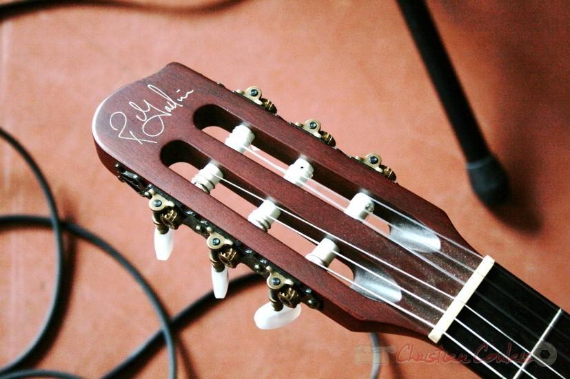 Mécanique et sillet de tête de la guitare Godin de Sylvain Luc. Festival JAZZ360, groupe scolaire, Cénac. Samedi 15 mai 2010