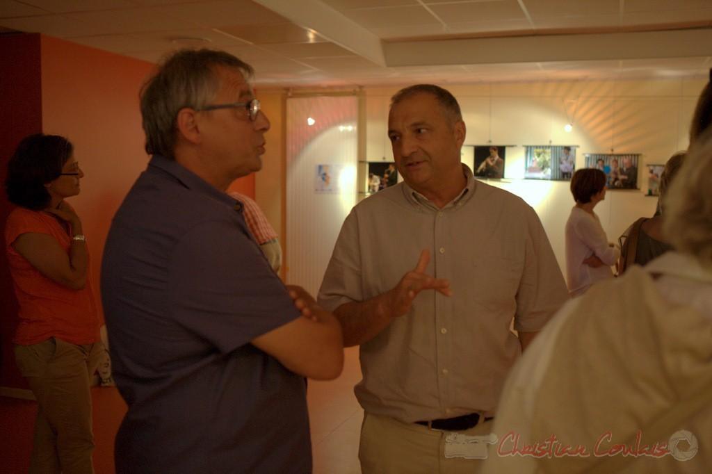 Richard Raducanu, Président de l'association JAZZ360, Jean-Philippe Guillemot, Maire de Camblanes-et-Meynac