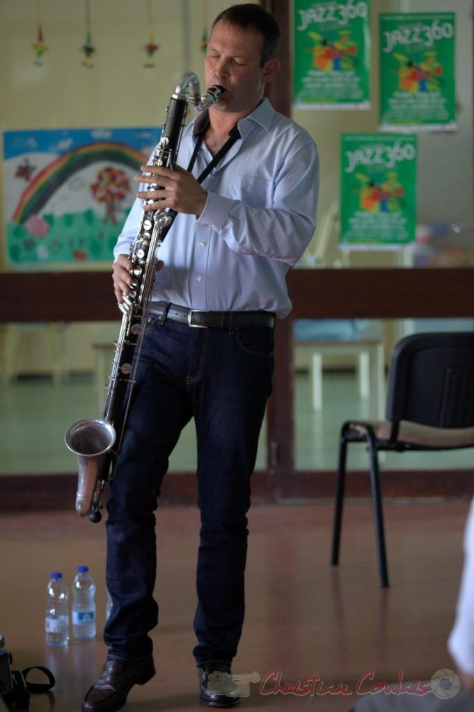 Festival JAZZ360 2015, Thomas Savy et sa clarinette basse. 13/06/2015, Cénac