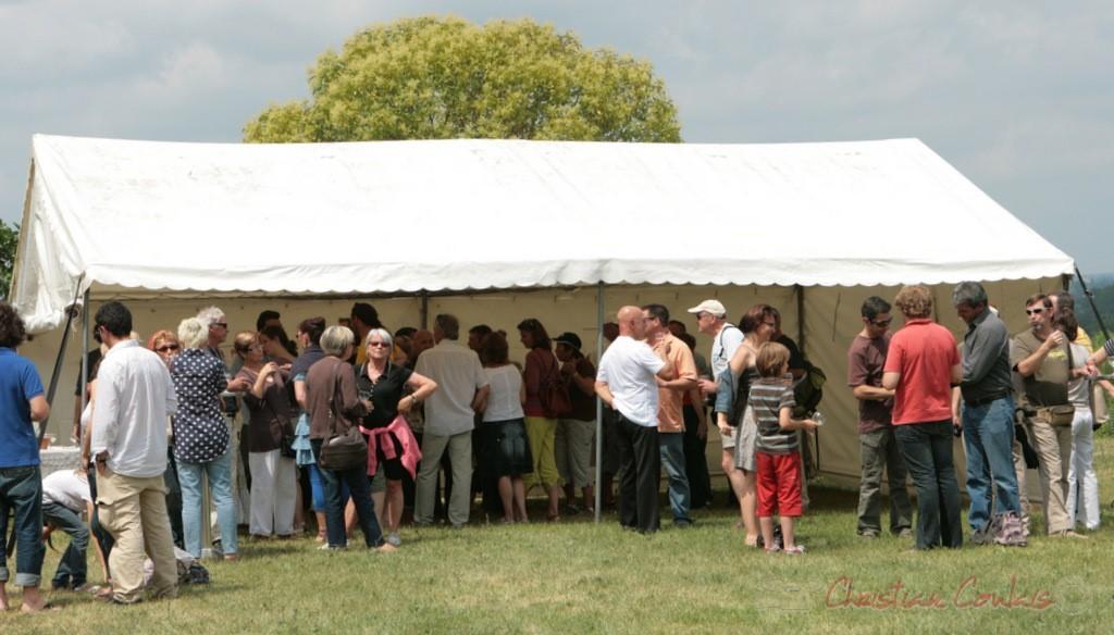 Apéritif et vin d'honneur, Château Lestange, Festival JAZZ360 2011, Quinsac. 05/06/2011