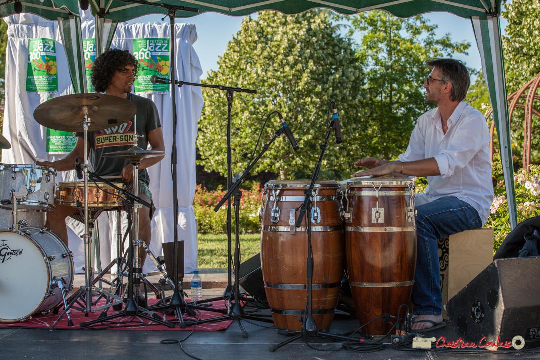 Gaétan Diaz, Jean-Marc Pierna; Gaétan Diaz Quintet. Festival JAZZ360, Cénac, 10 juin 2017
