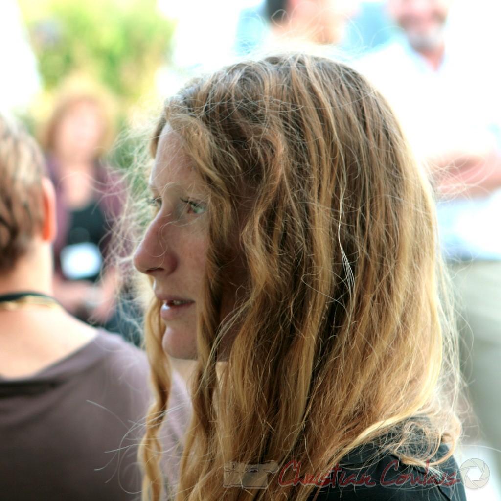 Leslie Seuve, technicienne lumière, Festival JAZZ360. Cénac. 05/06/2011