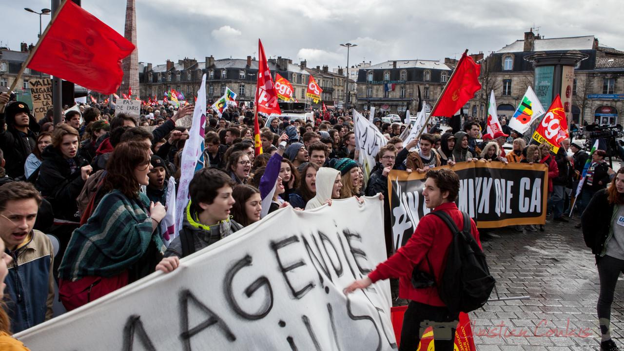 13h16, clic-clac, selfies, télé, Lycée Magendie en tête d'affiche, place de la Victoire