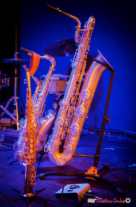 Saxophone soprano, saxophone ténor, saxophone baryton de Guillaume Schimidt. Festival JAZZ360 2018, Cénac. 09/06/2018