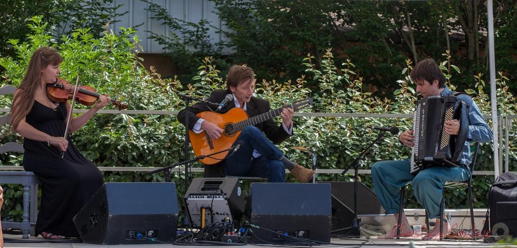 Züm Trio. Festival JAZZ360 2015, Piste Roger Lapébie / Gare de Latresne