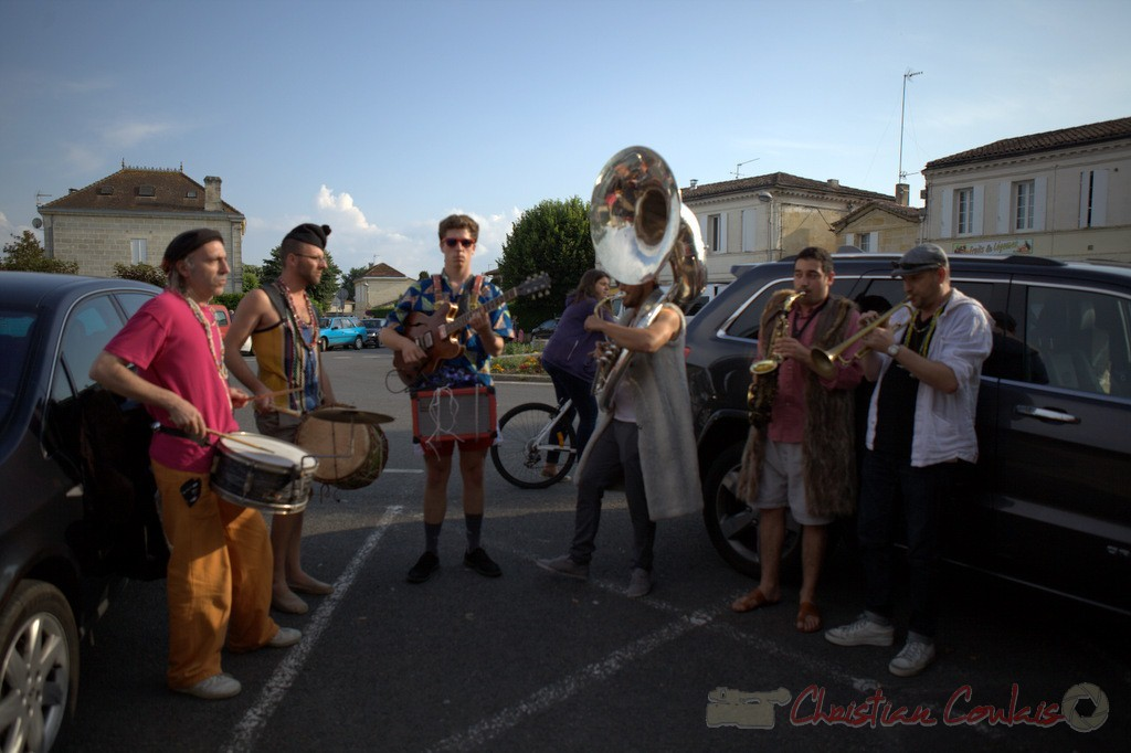 Festival JAZZ360 2015, Elephant Brass Machine, bar Le Liberté, Cénac, 12 juin 2015