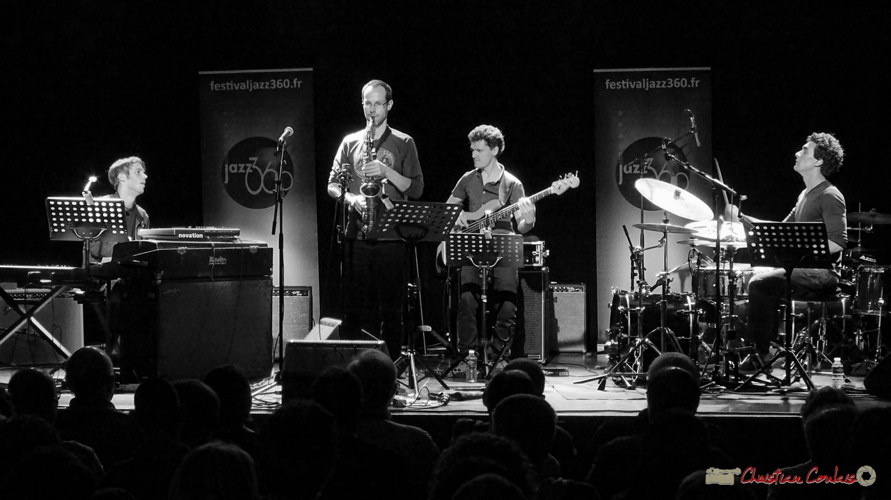 10/06/2016. Le JarDin Quartet, Cénac. Festival JAZZ360