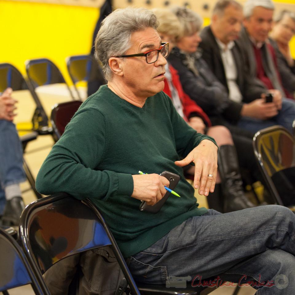 Argumentation de José Garcia,  Président d'association de Saint-Caprais, sur la non information des citoyens sur la fusion des Communautés de Communes