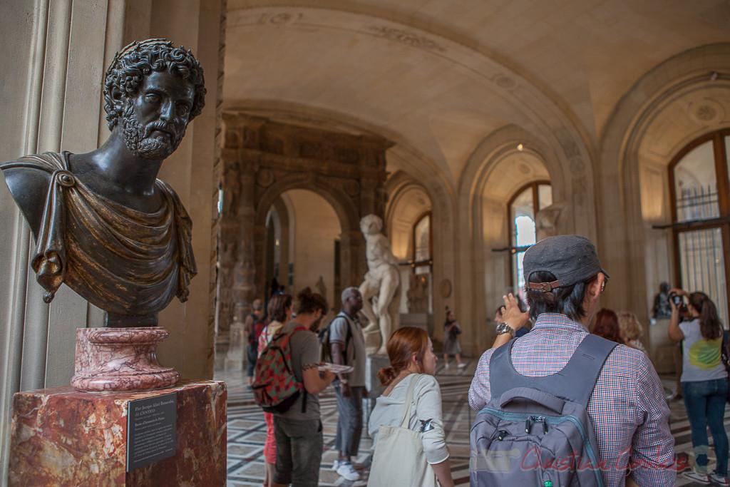 Buste d'Antonin le Pieux, Pier Jacopo Alari Bonacolsi dit l'Antico, Galerie Michel-Ange, Musée du Louvre