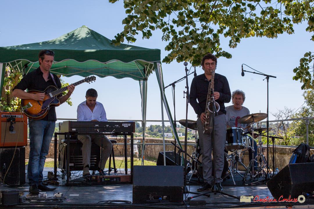 Cyril Amourette, Hervé Saint-Guirons, Jean Vernhères, Christian Ton Ton Salut; Soul Jazz Rebels. Festival JAZZ360, Camblanes-et-Meynac, 10 juin 2017